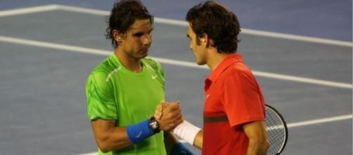 Federer and Nadal, Flickr, brett marlow (CC BY-ND 2.0) https://www.flickr.com/photos/brettandsatit/6773790753