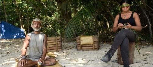 Raz Degan e Nancy Coppola sull'Isola dei Famosi