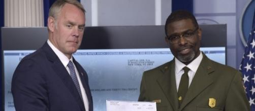 Secretary of the Interior Ryan Zinke and Superintendent Brandyburg of the Harpers Ferry site accept POTUS' salary donation- newsok.com