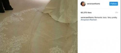 Serena Williams wedding gown / Photo via Serena Williams, Instagram