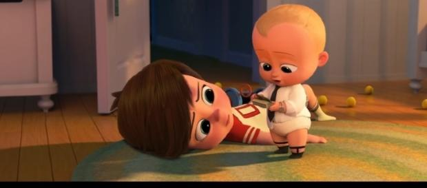 Tim helps the Boss Baby with his mission. /Photo via Movieclip Trailers, YouTube Screenshot