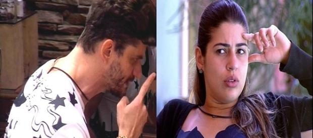 Vivian se revoltou com as atitudes de Marcos (Foto: Reprodução/TV Globo)