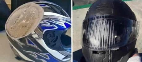 Pessoas que se livraram de grandes acidentes usando capacete
