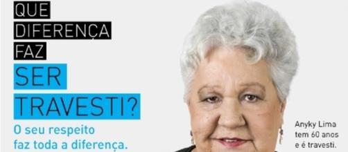 Anyky Lima, hoje com 61 anos, é um símbolo da luta contra a discriminação contra travestis.