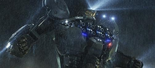 """In """"Pacific Rim,"""" humans relied on Jaegers to protect the Earth from the Kaiju alien race. (via Warner Bros. Pictures)"""