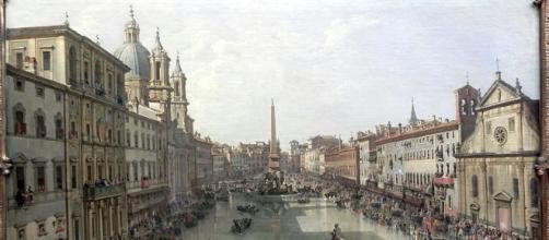 Piazza Navona, Giovanni Paolo Pannini, 1756