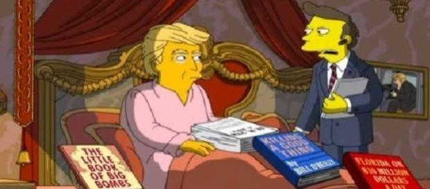 No episódio do dia 30, Trump usa um cachorro na cabeça como peruca
