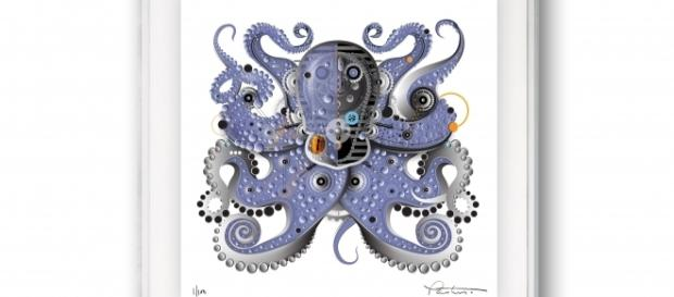 This octopus-inspired piece is at once playful, colorful, and incredibly detailed. / Photo via Michael Pantuso, used with permission.