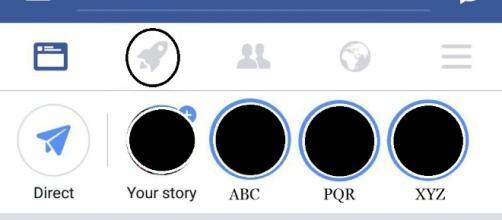"Facebook has recently added a new ""Rocket"" button into its mobile application. screencap via Facebook"