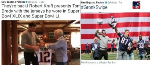 """Fue su propio compañero quien le """"robó"""" otra vez el jersey a Tom Brady, a manera de broma."""