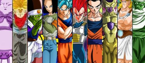 Son Gokú, Vegeta, Trunks y Son Gohan