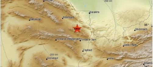 Terremoto magnitudo 6.0 in Iran, 5 Aprile 2017
