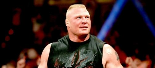 The new WWE Universal Champion Brock Lesnar was on the latest 'Raw' episode. [Image via Blasting News image library/inquisitr.com]