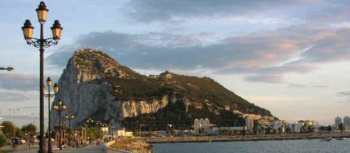 Veduta della rocca della rocca della colonia di Gibilterra