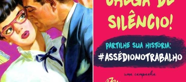 Campanha #chegadeassedio Mexeu com uma, mexeu com todas