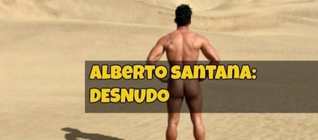 Desnudo en la playa de Más Palomas