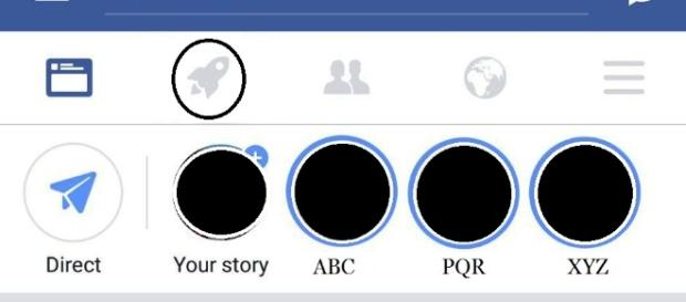 "Facebook has recently added a new ""Rocket"" button into its mobile application. screencap via Facebook"