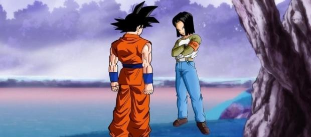 imagen referencial del combate entre Goku y C-17