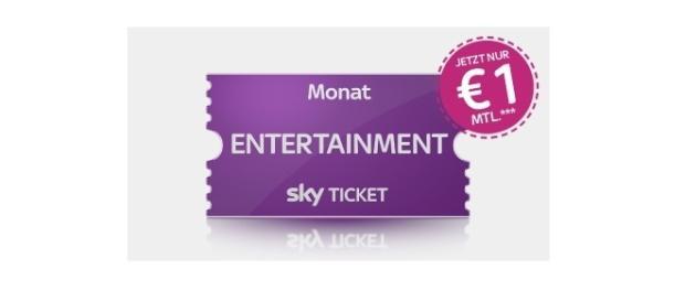 Sky bleibt weiterhin unten mit dem Preis - Entertainment für 1 Euro / Foto: Sky Werbung