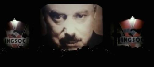 Big Brother from the 1984 film. Image captured from Youtube.com.