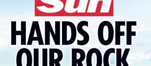 Portada de The Sun referente a Gibraltar