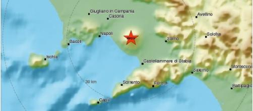 Scossa di magnitudo 2.5 della scala Richter sul Vesuvio, in data 10/04/2017
