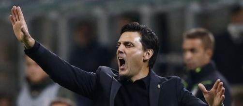Vincenzo Montella, allenatore Milan. Per lui potrebbe arrivare Kijaer in difesa
