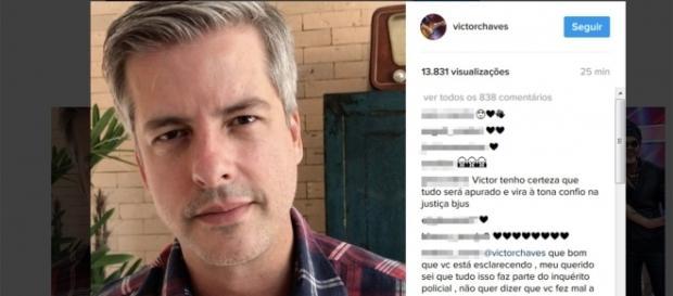 Após indiciamento, Victor se manifesta em rede social (Foto: Reprodução/Instagram)