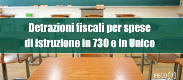 Detrazioni fiscali per spese di istruzione in 730 e in Unico