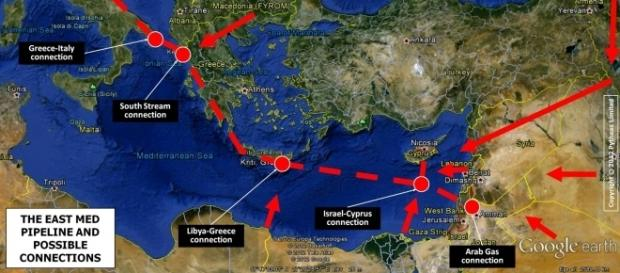 Il probabile percorso di EastMed
