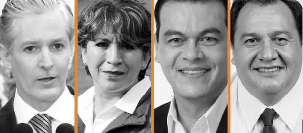 Los candidatos a la gobernatura del Estado de México. Fuente: http://tvurbananoticias.com.mx