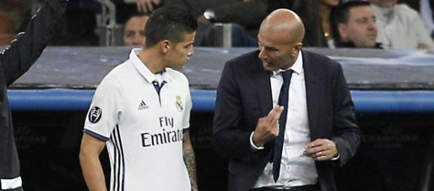 Real Madrid : Zidane se prononce sur le cas James Rodriguez !