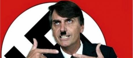 Montagem na internet compara Bolsonaro a Hitler (Foto: Facebook)