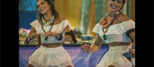 """Emilly e Vivian dançaram muito na festa com tema 'Bahia', no """"BBB17"""""""