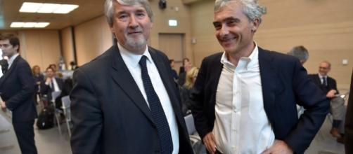 Riforma Pensioni e lavoro: più flessibilità e nuove assunzioni, news oggi 6 aprile 2017, nella foto Poletti e Boeri. foto formiche.net
