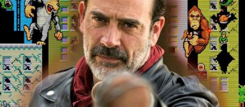 Watching Negan and The Rock battling monsters should be epic / Photo via The Rock's Rampage Gets Walking Dead Star Jeffrey Dean Morgan - movieweb.com