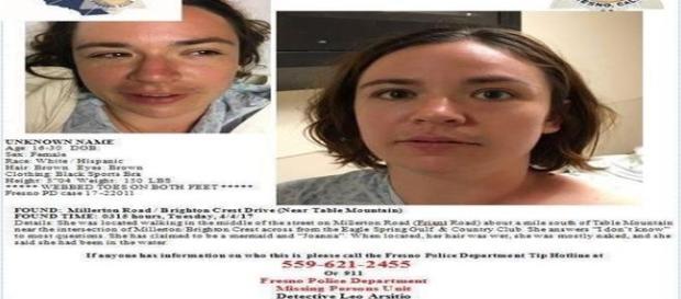 Apesar de buscar no banco de dados do país, polícia não encontra informações sobre a mulher ( FRESNO COUNTY SHERIFF'S OFFICE)
