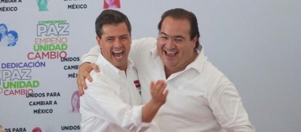 Duarte y peña Nieto, felices por su poder. Fuente: http://www.mientrastantoenmexico.mx/wp-content/uploads/2017/04/EPN-y-Duarte.jpg