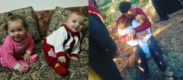 Os gêmeos Aiya e Ahmed, de nove meses, morreram no ataque químico a cidade síria (Crédito: Twitter/Sakir Khader)