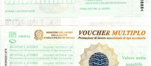 Un esempio dei voucher, rilasciati dal Ministero del Lavoro, Salute e Politiche Sociali.