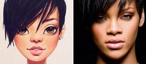 Artista russa transforma celebridades em ilustrações. Reprodução/Twitter.