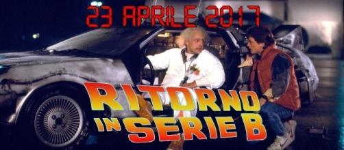 Doc Brown e Marty McFly parlano del Foggia in B (fonte: www.facebook.com/sonuzamarr)