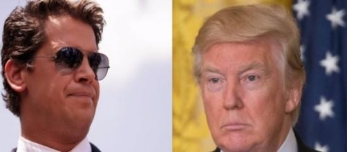Milo Yiannopoulos and Donald Trump, via Twitter