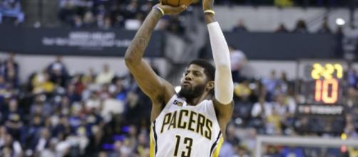 Paul George's 23 points helped Indiana defeat Milwaukee on Thursday.[Image via Blasting News image library/inquisitr.com]