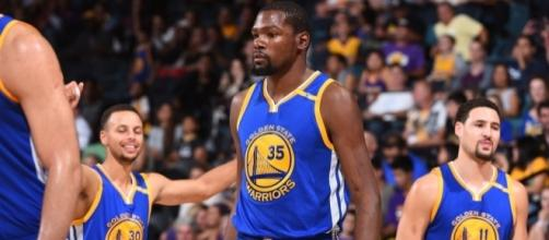 Steph Curry, Kevin Durant and Klay Thompson Combine for 78 Points - slamonline.com