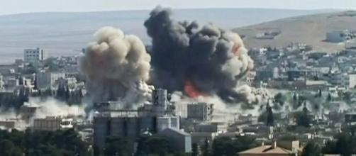 Syria bombing Photo Credit: Karl-Ludwig Poggemann