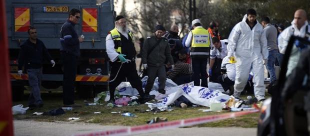 Das Foto zeigt einen ähnlichen Anschlag in Jerusalem. (Source URG Suisse Blasting.News Archive)