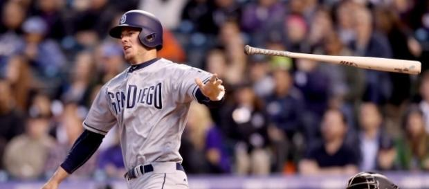Wil Myers bateó el segundo ciclo en la historia de los Padres de San Diego. Gaslamp Ball.com.