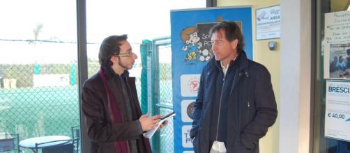 Durante l'intervista a Paolo Poggi