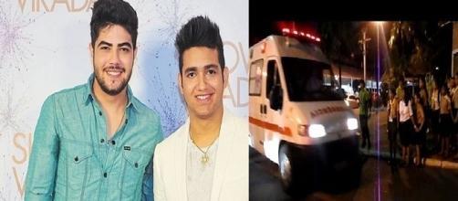 O acidente aconteceu minutos antes do show na Vila Country